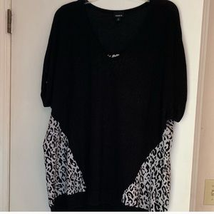 Torrid animal print blouse